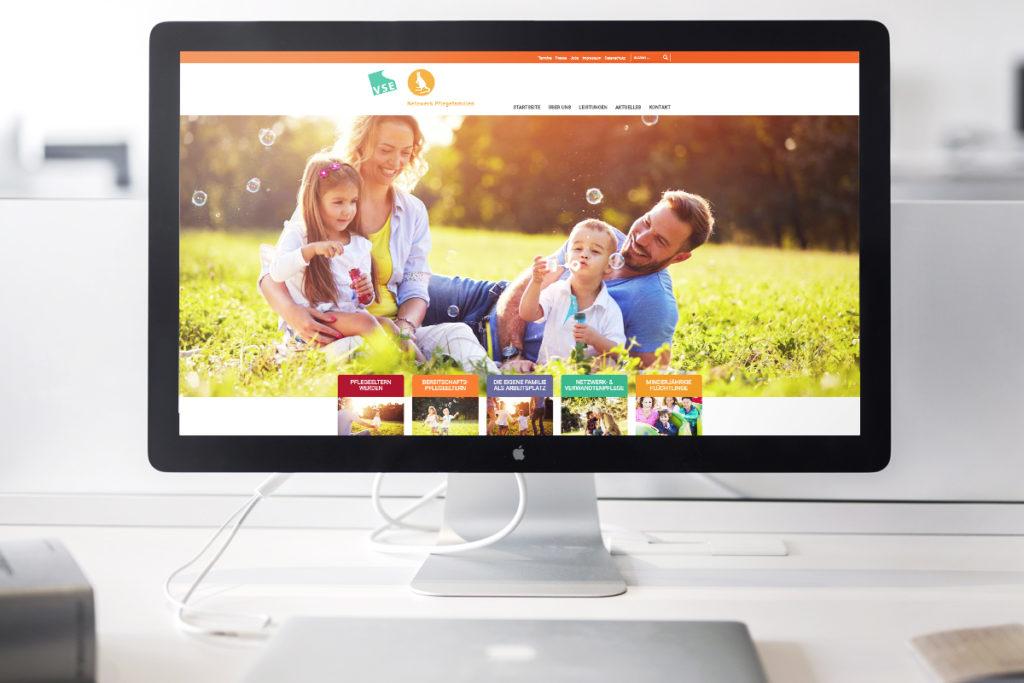 Netzwerk Pflegefamilie Webseitenrelaunch