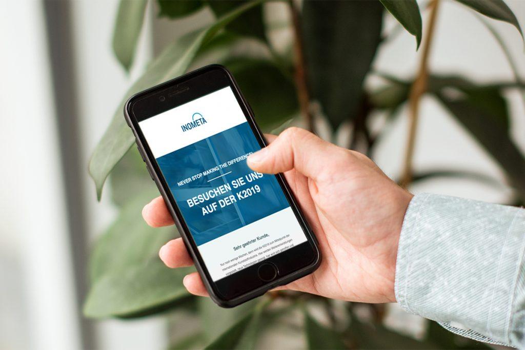 Digitale Einladungen für INOMETA – Werbeagentur 22GRAD formt besten Messeauftritt