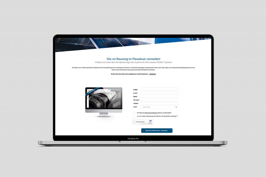 INOMETA Landingpage – 22GRAD Werbeagentur aus Lage für den Messeauftritt von INOMETA